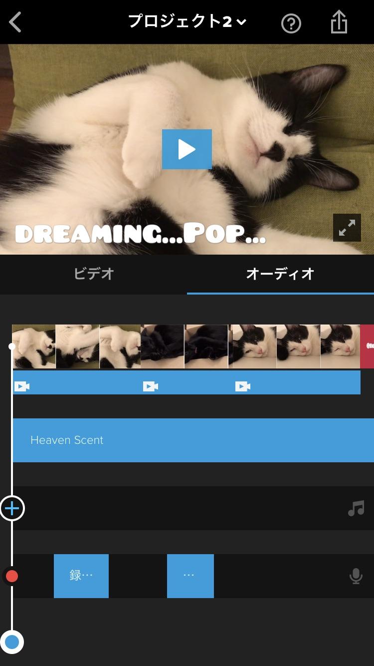 オーディオの編集画面3